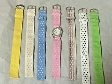 Women's Geneva Watch with 7 Interchangeable Ribbon Bands