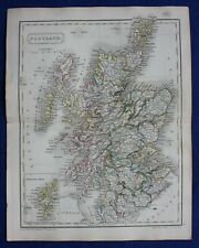 Original antique atlas map of SCOTLAND, Samuel Butler, 1844