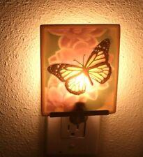 "Porcelain Lithophane COLOR BUTTERFLY Night Light 3.5"" X 4.25"""