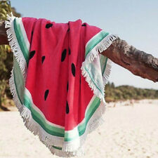Beach Holiday Gym Camping Bath Pool Cover Ups Watermelon Round Blanket Towel