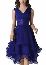 New Short Chiffon Prom Dress Bridesmaid Wedding Evening Formal Party Ball Gown