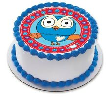 Giggle and Hoot Edible Kids Birthday Party Cake Decoration Topper Round Image