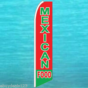 MEXICAN FOOD FLUTTER FLAG Restaurant Feather Swooper Advertising Banner Sign