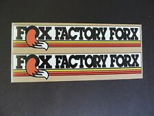 FOX FACTORY FORKS Vintage Motocross  stickers RM YZ CR KX  AHRMA