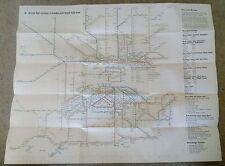 British Rail (1948-1997) Collectable Railway Maps