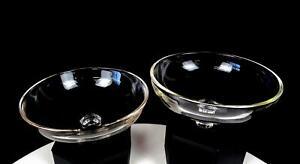"CAMBRIDGE ARMS GLASS CLEAR BOWL 2 PIECE 5 1/8"" PEG NAPPIES 1940-1958"