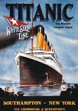 "TARGA VINTAGE ""1912 WHITE STAR LINE - TITANIC"" PUBBLICITA', POSTER ADVERTISING"