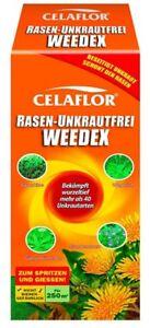 Celaflor Rasen Unkrautfrei Weedex Unkraut Vernichter für 250 m²