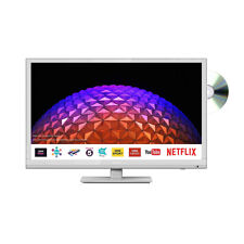 "Sharp White 24"" inch HD Ready LED Smart TV with DVD Combi and Freeview Play"