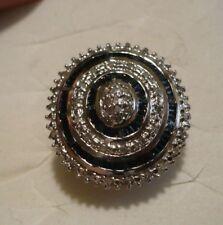 Blue & White Diamond Ring Sz. 7  67 diamonds .55tcw MSRP$944