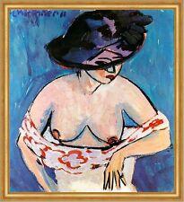 Weiblicher Halbakt mit Hut Ernst Ludwig Kirchner sinnlich Grazie LW H A2 0067