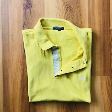Burberry London Men's Yellow Cotton Polo w/ Yellow Embroidred Size Medium M