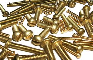 Screws Brass Round