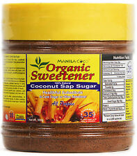 Organic Sweetener COCONUT SAP SUGAR Brown ManilaCoco 500g IN LIEU OF CANE STEVIA