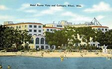 Biloxi,Mississippi,Hotel Buena Vista and Cottages,Chrome,c.1950s