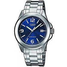 Casio Herrenuhr MTP-1259PD-2A Armbanduhr Edelstahl Blau Silber watch NEU & OVP