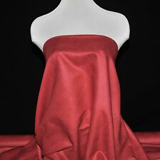 """FAUX SUEDE FABRIC 100% POLYESTER, DOUBLE FACE, SOFT 60""""  RED  , CLOTHING,CRAFT"""