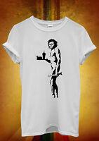 Banksy Caveman Apeman Fast Food Funny Men Women Unisex T Shirt Tank Top Vest 661