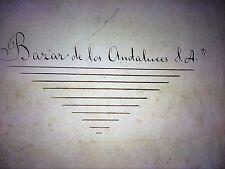 PROJET DE STATUTS DE BAZAR DE LOS ANDALUCES S.A. MANUSCRIT ESPAGNE. 1914