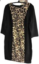 CHICO'S SO SLIMMING AVERY ANIMAL PANEL DRESS BLACK NWT $159 CHICOS SIZE 1 = 8/10