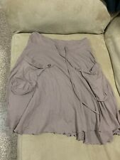 Eyeshadow Womens Sz M Skirt Brown- Pockets- Tie