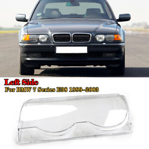 1PC Car Clear Headlight Headlamp Lens Cover Shell For BMW E38 1999-2001 Left