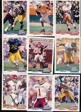 1992 UPPER DECK GOLD FOOTBALL COMPLETE SET 1-50