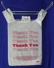 115 X 6 X 21 Thank You T Shirt Bags Plastic Retail Shopping Bags Only