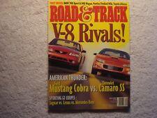 Road & Track 1999 April Mustang Cobra vs Camaro SS Jaguar vs Lexus vs Mercedes