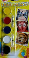 CHILDREN/KIDS FACE PAINT PARTY PACK PAINTING SET MAKE-UP KIT...New..Free(P+P).