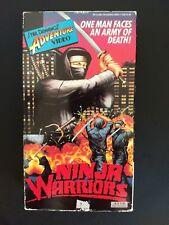 Ninja Warriors RARE VHS Sybil Dannings 1986