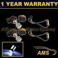 2X H11 WHITE 4 CREE LED FRONT MAIN HIGH BEAM LIGHT BULBS CAR KIT XENON MB503801