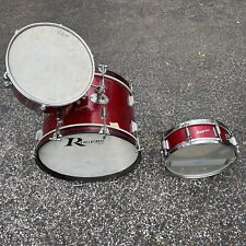 Rare 1960's Rogers Powertone Tom Snare Bass Drum Set Red Sparkle - EXCELLENT