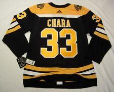 ZDENO CHARA size 52 = Large - Boston Bruins Aeroready Adidas NHL Hockey Jersey