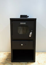 Wood Burning Stove Solid Fuel Fireplace Log Burner Steel Lid and Flap 8,4 kw