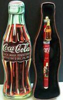 Coca Cola Tin Box Classic Coke Bottle Style 1996 With Pen Advertising Soda Pop