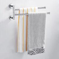 2 Bras Barre déplaçable stockage de salle de bains support de serviette FR