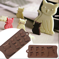 Flexible Silicone Cat ice mold & chocolate mold Jello Jelly maker