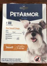 PetArmor Flea & Tick Topical 3 Applications for small Dogs 5-22lb New