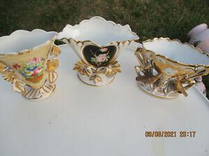 3 petits vases de mariée   napoléon III