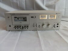Realistic SCT-950 Stereo Cassette Retro Silver Twin VU meters Microphone inputs