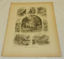 1874 Antique Print/SCENES ON THE SUSQUEHANNA RIVER, PA