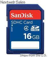 Genuine Sandisk 16GB 16 GB SDHC Class 4 Flash Memory Card SD SDSDB-016G