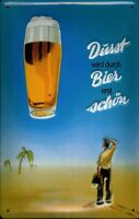 Bier Durst (Dickblech) Blechschild Schild 3D geprägt gewölbt Tin Sign 20 x 30 cm