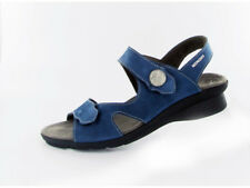 Ladies Casual Touch Fastening Sandals Mephisto Prudy Blue EU Size 40