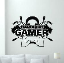 Hardcore Gamer Wall Decal Video Gaming Room Vinyl Sticker Art Decor Mural 63xxx