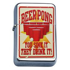 Vintage Poster D242 Flip Top Oil Lighter Wind Resistant Beer Pong Sink Drink