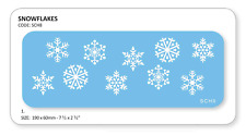 JEM Christmas SNOWFLAKES Cake Decorating Stencil Sugarcraft Decoration Baking