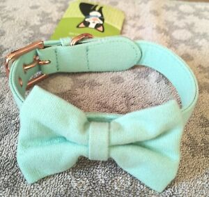 Green Copper Bow Tie Dog Collar NEW