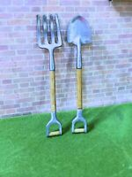 Dollhouse  Miniature  Gardening Set  Fork & Shovel